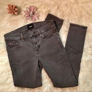 Hudson Nico Super Skinny Ankle Grey Wash Jeans